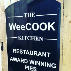 WeeCook Kitchen sign